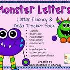 Build letter fluency with this fun letter fluency pack- students keep track of their progress with data trackers!