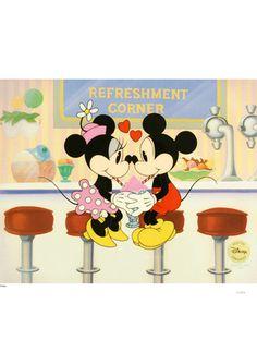 I lurrve Minnie and Mickey Mouse❤️ Walt Disney, Disney Magic, Disney Mickey, Disney Art, Disney Pixar, Disney Characters, Retro Disney, Cute Disney, Vintage Disney