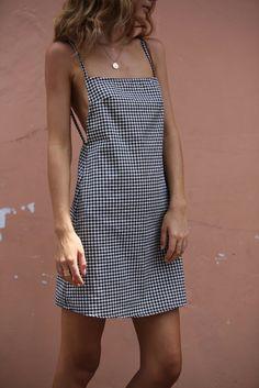 Possē Jane Open Back Mini Dress - Gingham