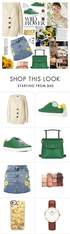 """Serika"" by kumi-chan ❤ liked on Polyvore featuring Balmain, Isabel Marant, Fendi, Topshop, tarte, Casetify and Daniel Wellington"