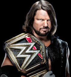 AJ Styles as the WWE World Champion