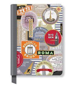 5c762470b83 Fringe Studio Travel Labels Hardcover Journal