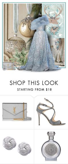 """Merry Christmas and a Happy New Year"" by anna-survillo ❤ liked on Polyvore featuring Elie Saab, Yves Saint Laurent, Jimmy Choo, Nine West, Boadicea the Victorious, ElieSaab, jimmychoo and yvessaintlaurent"