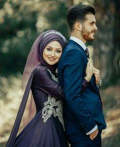 Muslimah Wedding Dress, Muslim Wedding Dresses, Muslim Brides, Wedding Couple Photos, Wedding Poses, Wedding Couples, Arab Wedding, Cute Couple Poses, Couple Photoshoot Poses