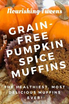 Grain-Free Pumpkin Spice Muffins - Nourishing Tweens