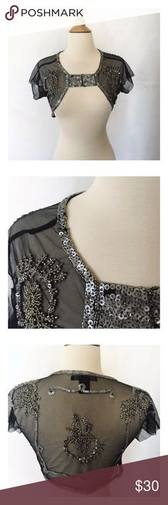 Rampage vintage Shrug Beautiful beaded sheer shrug. Rampage Tops