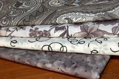 1 yard fabric Bundle of Grey BLACK and WHITE by PhatQuarters, $22.00