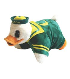 University of Oregon NCAA Pillow Pet | It's a Pillow, It's a Pet- It's a Pillow Pet! Just unfasten it's belly & the pet becomes an 18'' pillow. Pillow Pets products are the ultimate collectible items for sports fan.