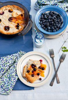 Blueberry and Peach Pie at Cooking Melangery