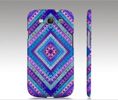 Tribal Samsung Galaxy S3 case, Galaxy S4 case, Aztec colorful diamond triangle pattern design, trendy hipster fashion, art for your phone