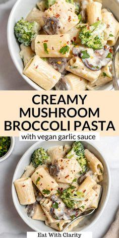 Rigatoni Recipes, Yummy Pasta Recipes, Vegan Dinner Recipes, Vegan Dinners, Italian Recipes, Vegetarian Recipes, Light Pasta Recipes, Italian Dishes, Noodle Recipes