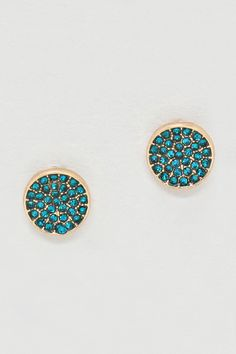 Pretty Teal Earrings
