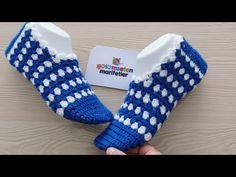 How to make 1 hour knitted ladies booties socks, Diy Abschnitt, Crochet Slipper Pattern, Crochet Slippers, Booties Crochet, Knitting Socks, Baby Patterns, Crochet Baby, Crochet Home, Lady, Free Pattern