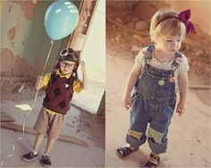 how adorable is this!! little Carl Frederickson and Ellie from Up! adventure is out there!!