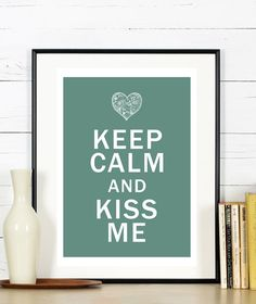Affiche Keep Calm and Kiss Me : Affiches, illustrations, posters par rgb