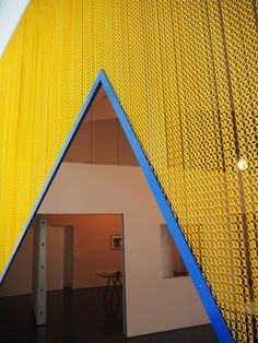 Kriskadecor chain curtains by the catalan artist Daniel Steegmann Mangrané. An exhibition in museum MACBA (Barcelona - Spain). #art #design #contract #museum