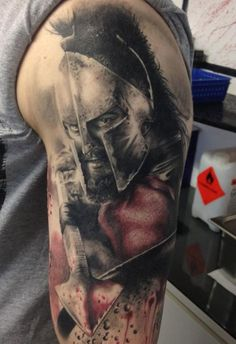 Leonidas - Rücken - # Rücken - Killer Sleeve Tattoos for Men - Tatuagem Warrior Tattoos, Badass Tattoos, Wolf Tattoos, Black Tattoos, Body Art Tattoos, Tattoos For Guys, Tattoos For Women, Arm Tattoo, Sleeve Tattoos