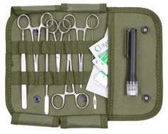 17-Piece Minor Surgery EMS Field Military Medical First Aid Suture Surgical Kit