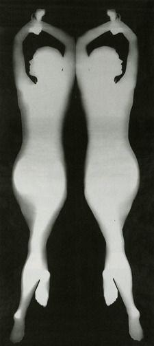 "Floris Neusüss, '""Mirror image, body photogram (nudpgram)"", from the series 'Körperbilder',' 1967, Kicken Berlin"