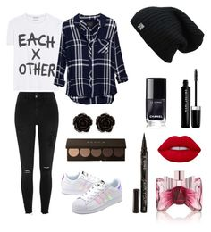 """""""Casual X"""" by x0cindy0x on Polyvore featuring mode, Each X Other, Rails, Erica Lyons, River Island, adidas Originals, Smith & Cult, Marc Jacobs, Lime Crime en Viktor & Rolf"""