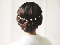 updo + crown