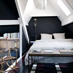 Chambre blanc et noir