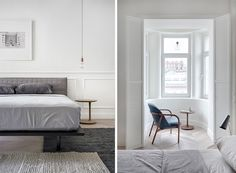 Spacious and Scandinavian-Inspired Apartment by Architecture with a Great Dose of Visual Interest - NordicDesign Scandinavian Interior Design, Nordic Design, Sweet Home, Design Inspiration, Inspired, Architecture, Nooks, Furniture, Bedroom Ideas