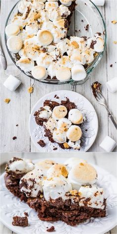 Smores Brownie Pie - making with GF brownies & Graham Crackers. No campfire? No problem! Fudgy brownies topped with toasted marshmallows & graham cracker crumbs. Best smores ever! Köstliche Desserts, Delicious Desserts, Dessert Recipes, Yummy Food, Summer Pie, Food Porn, Brownie Toppings, I Love Food, Sweet Recipes