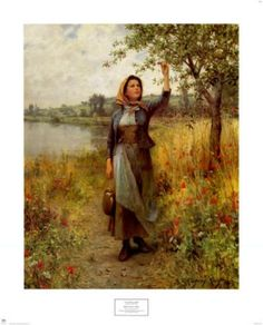 """I have a large poster of this in my room--never tire of it! """"Brittany Girl"""" by Daniel Ridgway Knight"""