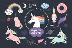 Unicorns are real by lenlis on @creativemarket