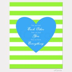 Items similar to First We Had Each Other Quote Girl Heart Wall Art Print, Children Kids Baby Stripes Room Decor Blue Turquoise Yellow White ofCarola on Etsy Blue Green, Blue And White, Navy Blue, Heart Wall Art, Summer Stripes, Nursery Decor, Nursery Ideas, Baby Time, Old Art