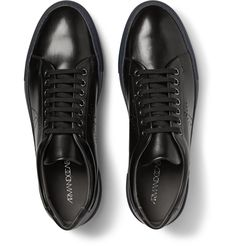 Armando Cabral - Two-Tone Perforated Leather Sneakers.