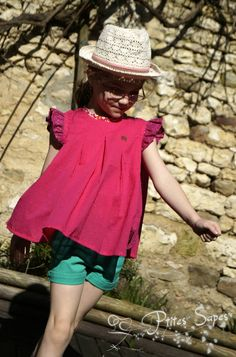 Tunique hybride ALULA-ALHENA, Grains de Couture pour Enfants, Ivanne SOUFFLET, by Ptites Sapes