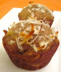 Banana Coconut Pineapple Muffins - Damn Delicious