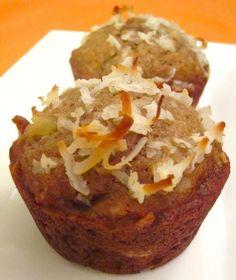 Banana Coconut Pineapple Muffins