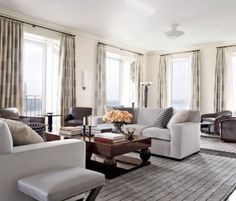 Modern Living Room by Victoria Hagan Interiors and Peter Pennoyer Architects in New York, NY