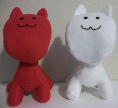 9 inch Mio Mao plush toys made to order by ChaPowStudios on Etsy