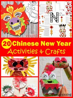 Chinese New Year Zodiac Coloring Lanterns for Kids | Totschooling - Toddler, Preschool, Kindergarten Educational Printables