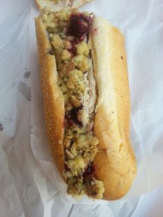 The Bobbie from Capriottis (turkey, cranberry sauce, and stuffing)