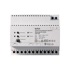 GIRA Steuergerät 128700 Audio Türkommunikation REG Audio, Post, Communication, Rain, Health, Cable