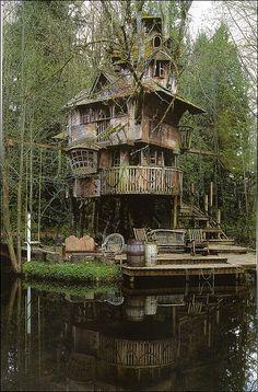 Treehouse?  Houseboat?