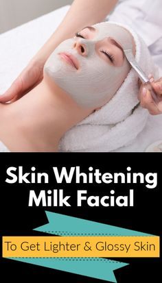 Skin Whitening Milk Facial To Get Lighter & Glossy Skin, For All Skin Types : Here is a 4 step milk facial which is suitable for all skin types. This milk facial adds extra glow to the skin, enhances complexion, treats skin discolouration, even out s Even Out Skin Tone, Normal Skin, Combination Skin, Dry Skin, Beauty Skin, Natural Skin Care, Skin Care Tips, Beauty Tips, Beauty Ideas