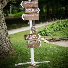 A step by step tutorial to create your own city sign post for weddings or other festivities (plus two other DIY Wedding projects)