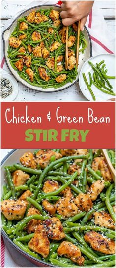 Fast & Simple Chicken and Green Bean Stir Fry for Clean Eating - Clean Food Crus. Fast & Simple Chicken and Green Bean Stir Fry for Clean Eating - Clean Food Chicken Green Beans, Stir Fry Green Beans, Clean Baking Pans, Food Crush, Cooking Recipes, Healthy Recipes, Health Food Recipes, Cooking Ribs, Food Dinners