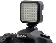 Chromo Inc. Rechargeable Ultra-Bright LED 36 Camera / Video Light Flash with Hot Shoe and Tripod Adapter for Canon , Sony , Nikon and Other DSLR Cameras - For Sale