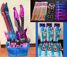 star party ideas inflatable guitars microphones rocker s accessories and giveaways L pp 80s Birthday Parties, Dance Party Birthday, Birthday Party Themes, 7th Birthday, Birthday Ideas, Rockstar Party, Rockstar Birthday, Karaoke Party, Music Party