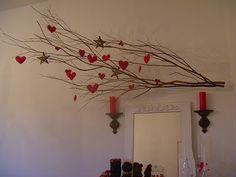 Adrianna Alvarez: Minha árvore de natal de galhos e corações