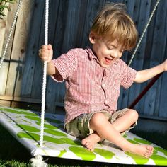 Save tons of money on an expensive therapeutic swing by making one yourself.