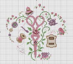 Needle card and tea pot Cross Stitch Boards, Cross Stitch Heart, Cross Stitch Alphabet, Cross Stitching, Cross Stitch Embroidery, Embroidery Patterns, Cross Stitch Designs, Cross Stitch Patterns, Crochet Cross