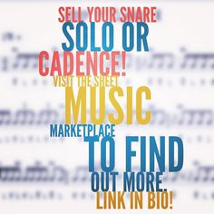 Have you ever wanted to sell a snare solo or cadence that you've written? Now you can! Visit the Sheet Music Marketplace to find out more. Link in our bio! #RudimentRepublic #JoinTheRepublic #snaresolo #cadence #drumcadences #dci #wgi #drumline #drumming #drummers #composition #sheetmusic #percussion #percussionist by rudimentrepublic